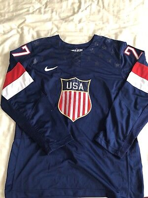 Nike USA hockey Jersey 2014 Ryan Mcdonagh 27 Embroidered Authentic Large (Usa Hockey Jersey 2014)