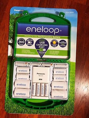 Panasonic Eneloop Rechargeable Batteries Kit w/ Charger 6 AA & 4 AAA - Brand (Panasonic Charger Kit)