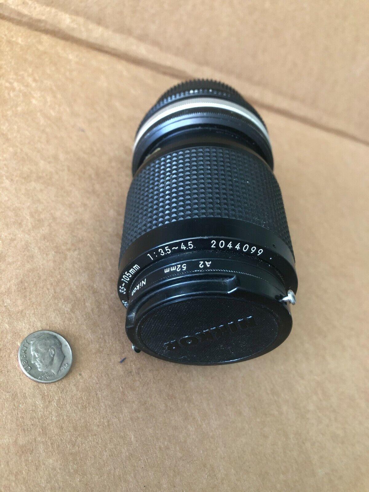 Nikon Camera Lens Zoom-NIKKOR 35 105mm With Filter - $19.95