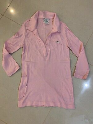 Lacoste Women Cotton Pink Polo 3/4Sleeves Top Size 36 / Small