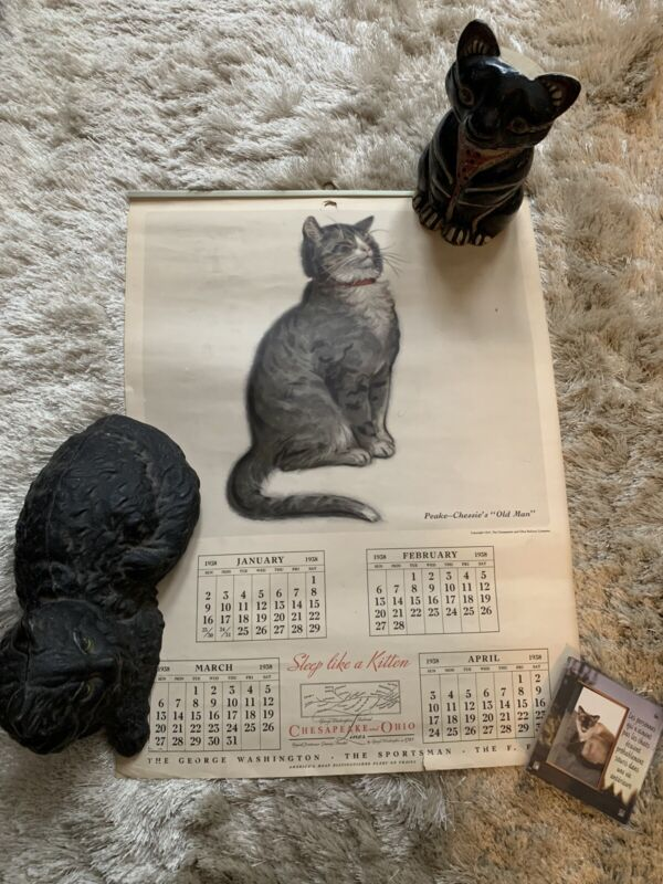 Vintage 1938 Chessie Railroad 3 Page Calendar