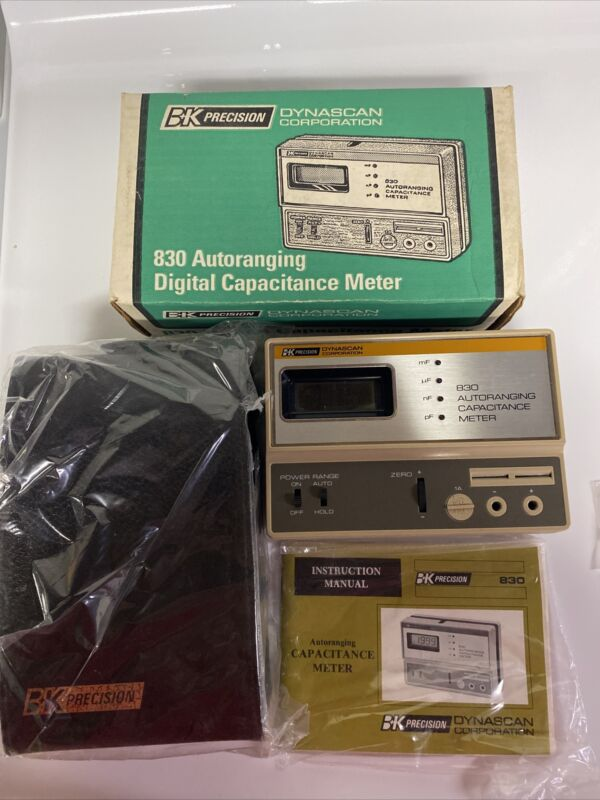 B&K PRECISION DYNASCAN 830 AUTORANGING DIGITAL CAPACITANCE METER NOS.BRAND NEW!!