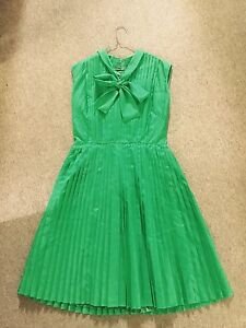 VINTAGE GERMAN PLEATED DRESS SIZE 14 New Farm Brisbane North East Preview