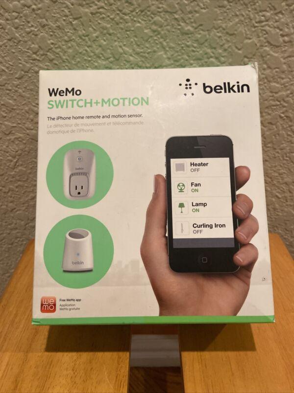 Belkin WeMo Switch + Motion, SmartPhone Home Remote - Open box