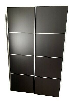Used black sliding door wardrobe