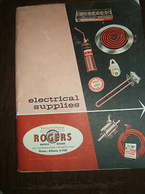 VINTAGE ROGERS SUPPLY HOUSE (in Chicago) ELECTRICAL SUPPLIES CATALOG 1950-60s