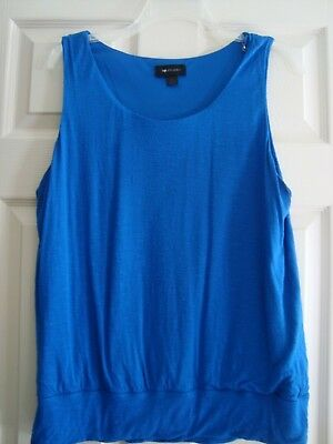 AB Studio Knit Top Size XL Sleeveless Lined Royal Blue Strap Carriers for sale  Mars