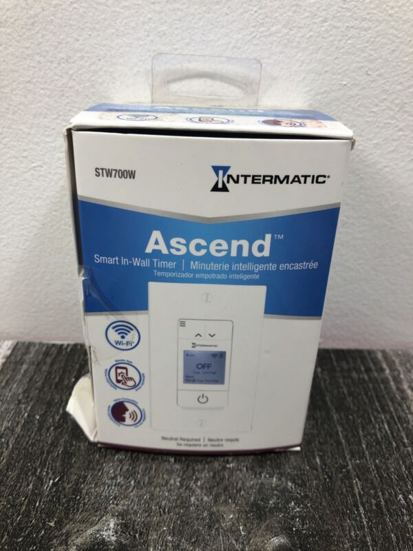 Intermatic Ascend STW700W Smart In-Wall Timer NEW + Free Shipping