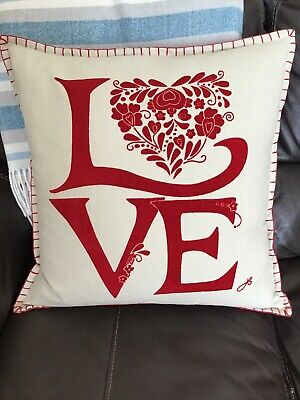 """jan constantine cushion. NEW. With Feathered Inner. 18""""x18"""""""