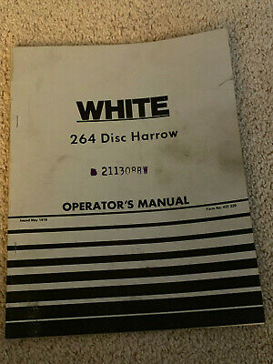 Vintage White Farm Equpment Oliver 264 Disc Harrow Operators Manual May 1978