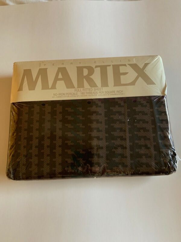 Vintage Martex Full Fitted Sheet 180 Threads