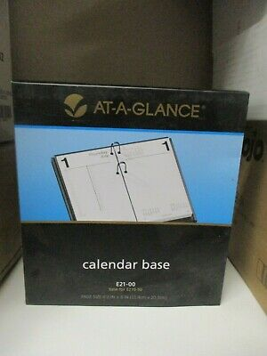 Brand New At-a-glance Calendar Base 4 12 X 8 Black E21-00