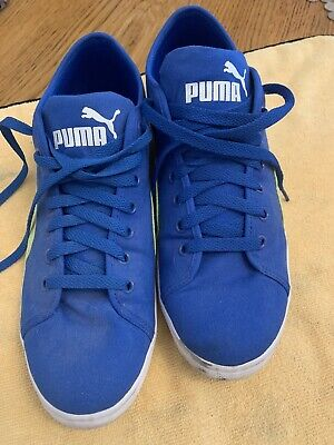 One Pair Blue Puma Trainers  Size 9