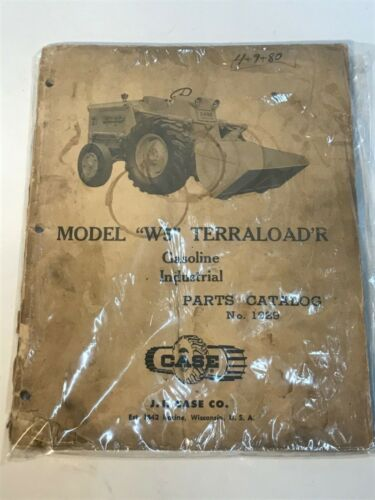 1959 CASE W5 TERRALOADER GAS INDUSTRIAL ILLUSTRATED PARTS CATALOG 1029 good