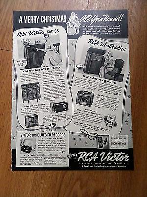 1938 RCA Victor Victrolas Radio Phonograph Ad