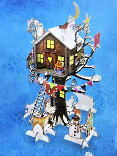 Advent Calendar 3D Christmas Treehouse Pop & Slot Cardboard Roger la Borde New