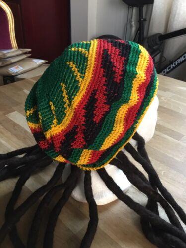 Béret chapeau crochet rastafari unisexe neuf