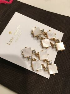 NWT Kate Spade Pearl Cove Chandelier Earrings