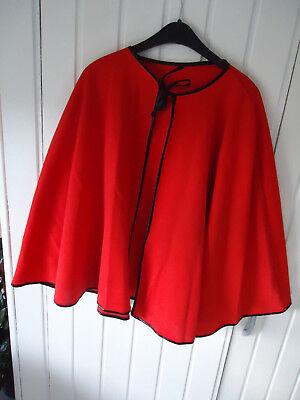 Umhang Cape rot schwarz eingefasst für Kinder (10 Stück) Zubehör Karneval ()