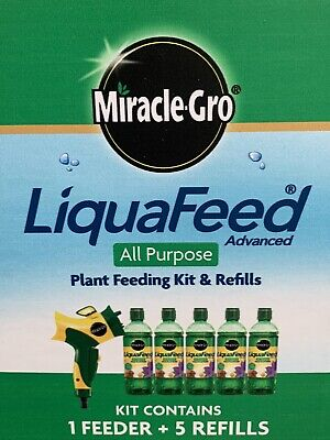 Miracle Gro LiquaFeed All Purpose Plant Food StarterKit 1 FEEDER 5 Bottles 475ML