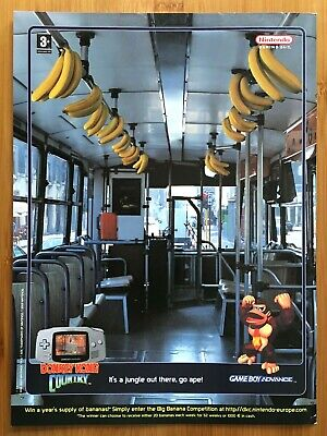 Donkey Kong Country GBA 2003 Vintage Print Ad/Poster Official Original UK Art