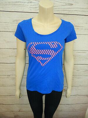 DC Comics T-Shirt Women's Size 8 Superwoman Short Sleeve Blue And - Superwoman Pink