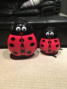 Ladybug Heys Child's size luggage and backpack