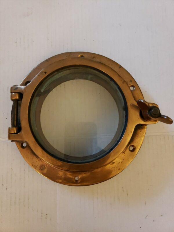 "Antique Copper  Ship Porthole Window 8"""