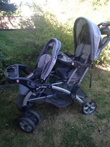 Sit and stand double stroller & small stroller