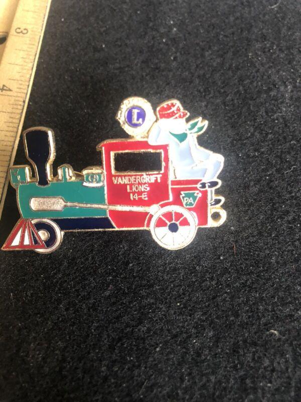 Lions Club Vandergift 14-E Pennsylvania Train Lapel Pin