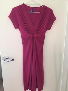 Pink Fuchsia Knot Front Maternity Dress UK12 Frankston South Frankston Area Preview