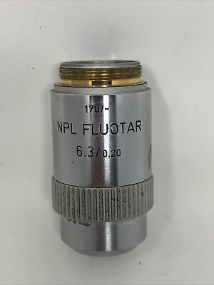Leitz Wetzlar Microscope Objective 170- Npl Fluotar 6.30.20