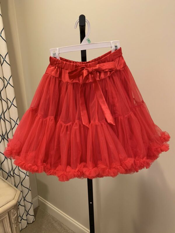 EUC CWD Kids, Girls' Red Tulle Skirt, size 7/8