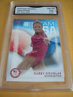 Gabby Douglas Gymnastics 2016 Topps Usa Olympics   75 Graded 10