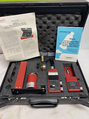 Quest Audiometer Calibration System 215 Sound Level Meter Octave Band Peak Case