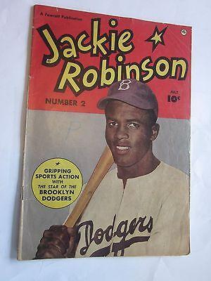 1950 Jackie Robinson Comic Book #2 Brooklyn Dodgers Fawcett Publication
