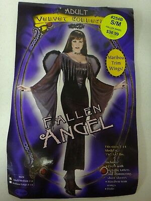 FALLEN ANGEL WOMEN'S HALLOWEEN COSTUME ADULT size sm/med](Fallen Angel Halloween Costume)