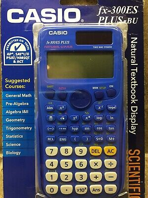 🔥Casio fx-300ES Plus-BU Scientific Calculator SAT PSAT Approved BEST