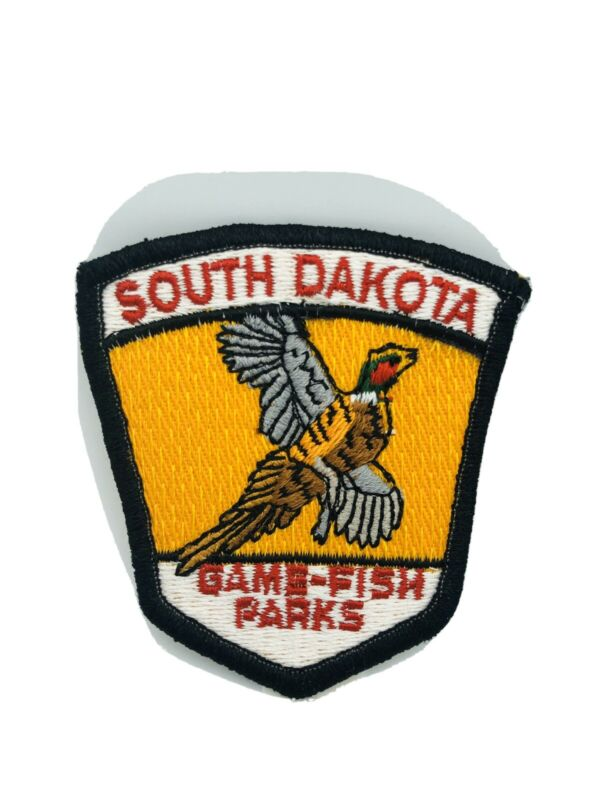 South Dakota Game-Fish-Parks, Merrowed Embroidered Cheese-cloth Patch