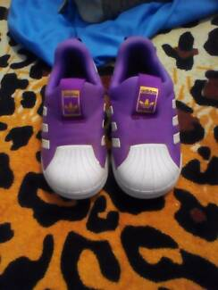 Girls Purple Addidas Shoes