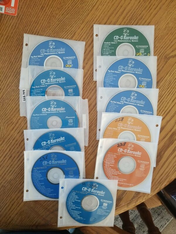 Lot of 11 Pioneer Karaoke