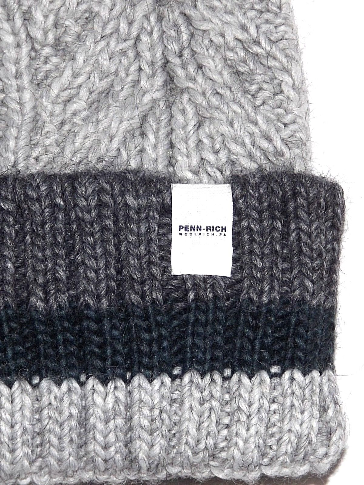 PENN-RICH by WOOLRICH CAPPELLO PON PON F- PENN STRIPED HAT BERRETTO BOBBLE  HAT a6c4c303184b