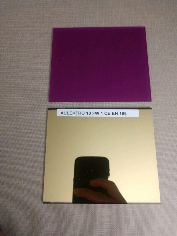 Aulektro Magenta Magic welding lens 2 pc set  sh10(large 4.5x5.2)Weld in HI DEF!
