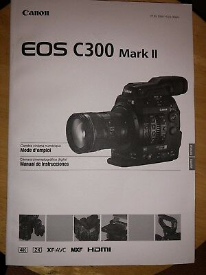 EOS C300 Mark ii Manual In Different Languages Mode d' Empli Manual de Instrucci for sale  Raleigh
