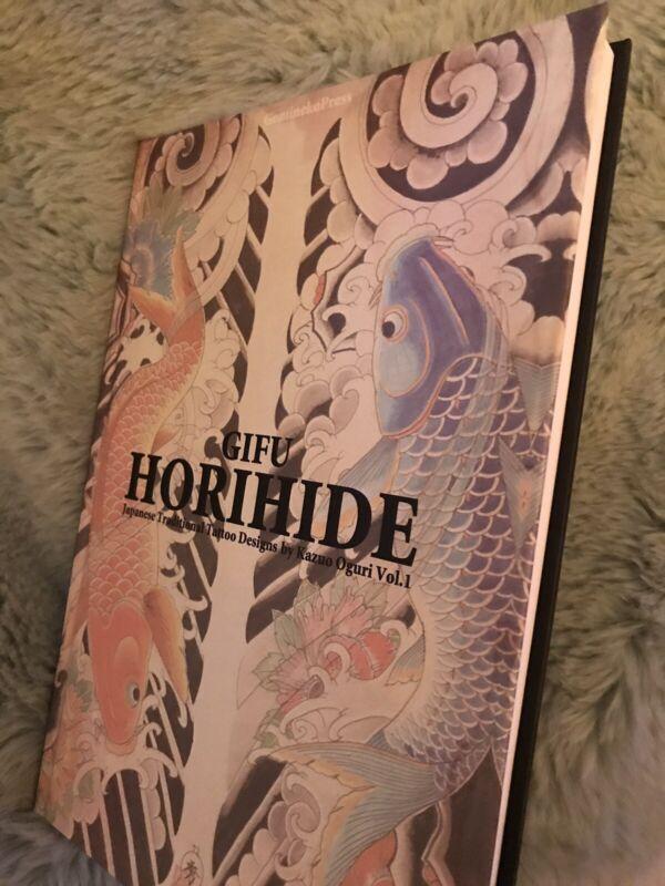 RARE HARDCOVER Gifu Horihide Japanese Tattoo Design Book - Kazuo Oguri Tebori