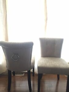 Two low back parsons chairs