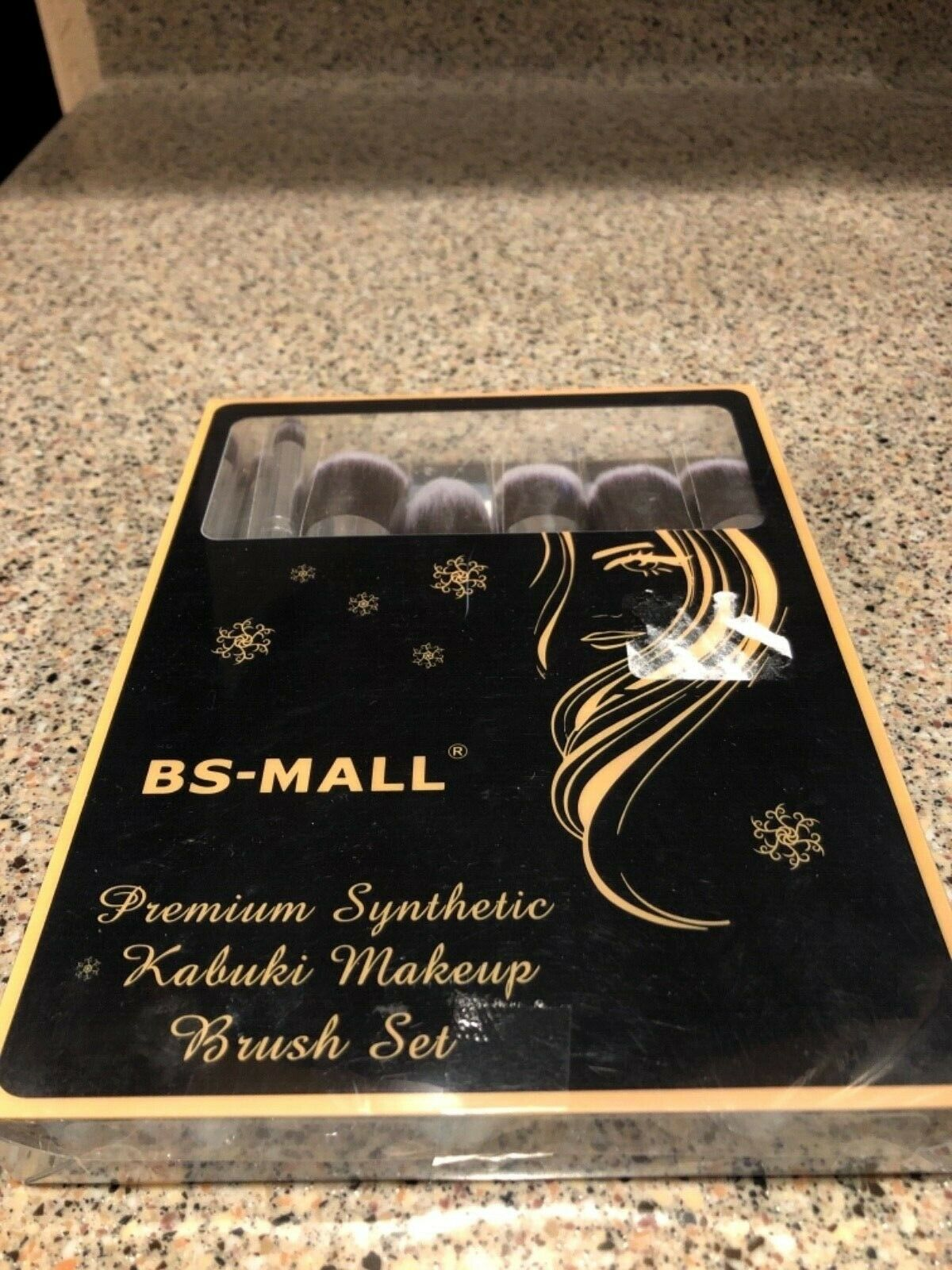BS-MALL Premium Synthetic Kabuki Makeup Brush Set