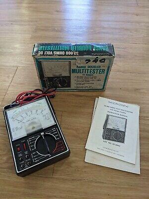Vintage Micronta Range Doubler Multitester 22-204c - With Box