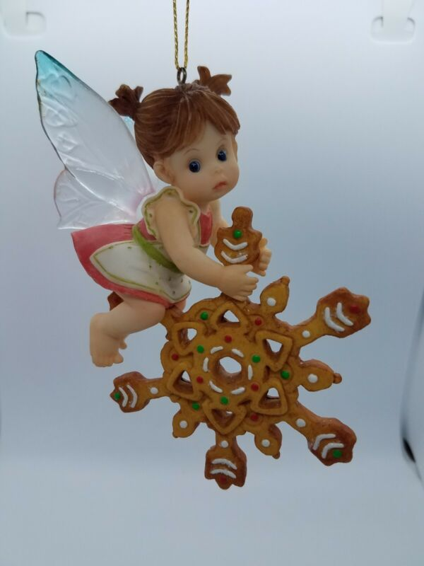 Snowflake Gingerbread Cookie Farie Haning Ornament My Little Kitchen Enesco