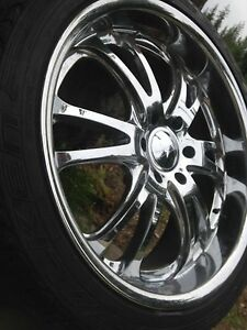 "22"" Foose chrome rims 6 bolt"